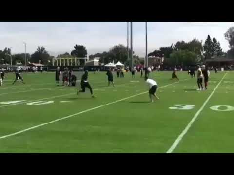 54 YEAR OLD JERRY RICE GOES OFF AT 49ERS TRAINING CAMP