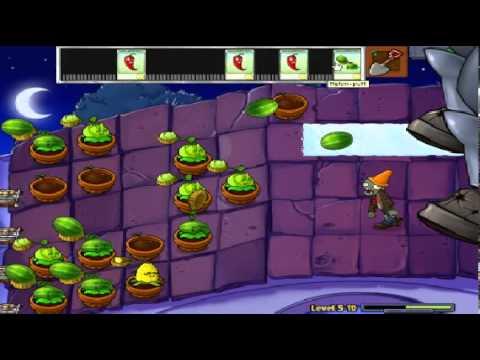 Plants vs zombies (Trồng cây bắn zombie) - Cấp độ 5-10 END (Game Việt Hóa)