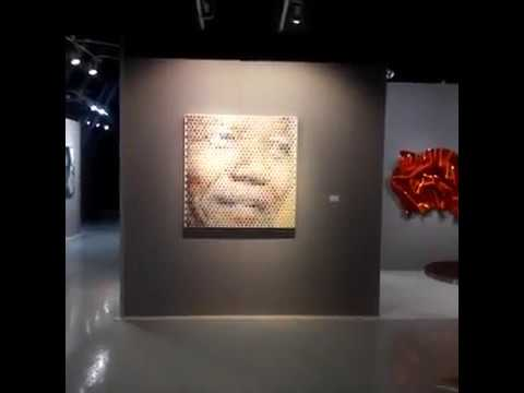 Palm Beach Art, Antique & Design Center Nelson Mandela  abstract ar