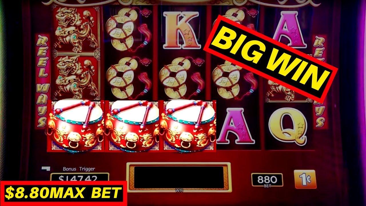 Dancing Drums Slot Machine ★huge Win★ 8 80 Max Bet Bonus