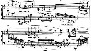 Bela Bartok - Two Elegies for Piano, Op. 8b Sz. 41 (1908-9) [Score-Video]
