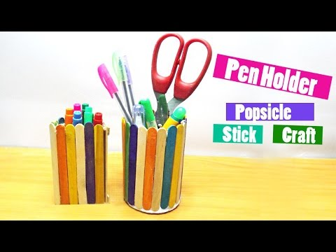 Popsicle Stick Pen Stand Tvaction Info
