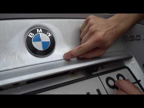 Замена крышки багажника BMW E46
