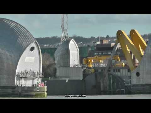 Flooding Emergency: London's River Thames Barrier In Action!