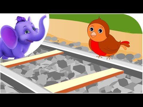 Little Robin Redbreast Sat Upon A Rail - Nursery Rhyme & Karaoke Version
