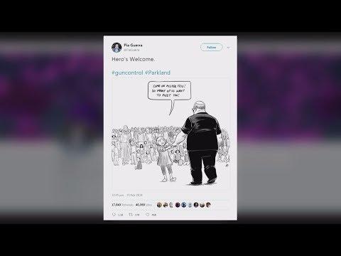 Vancouver artist explains inspiration behind viral Florida shooting cartoon