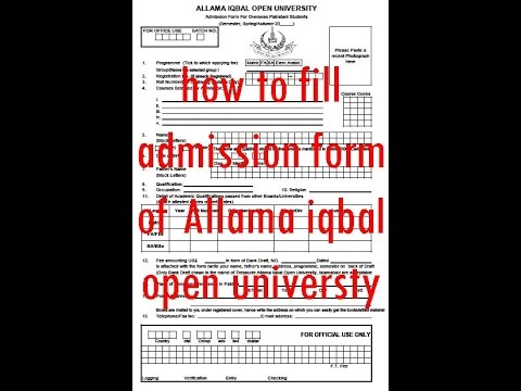 how to fill aiou admission form 2017 process for all level classes ...