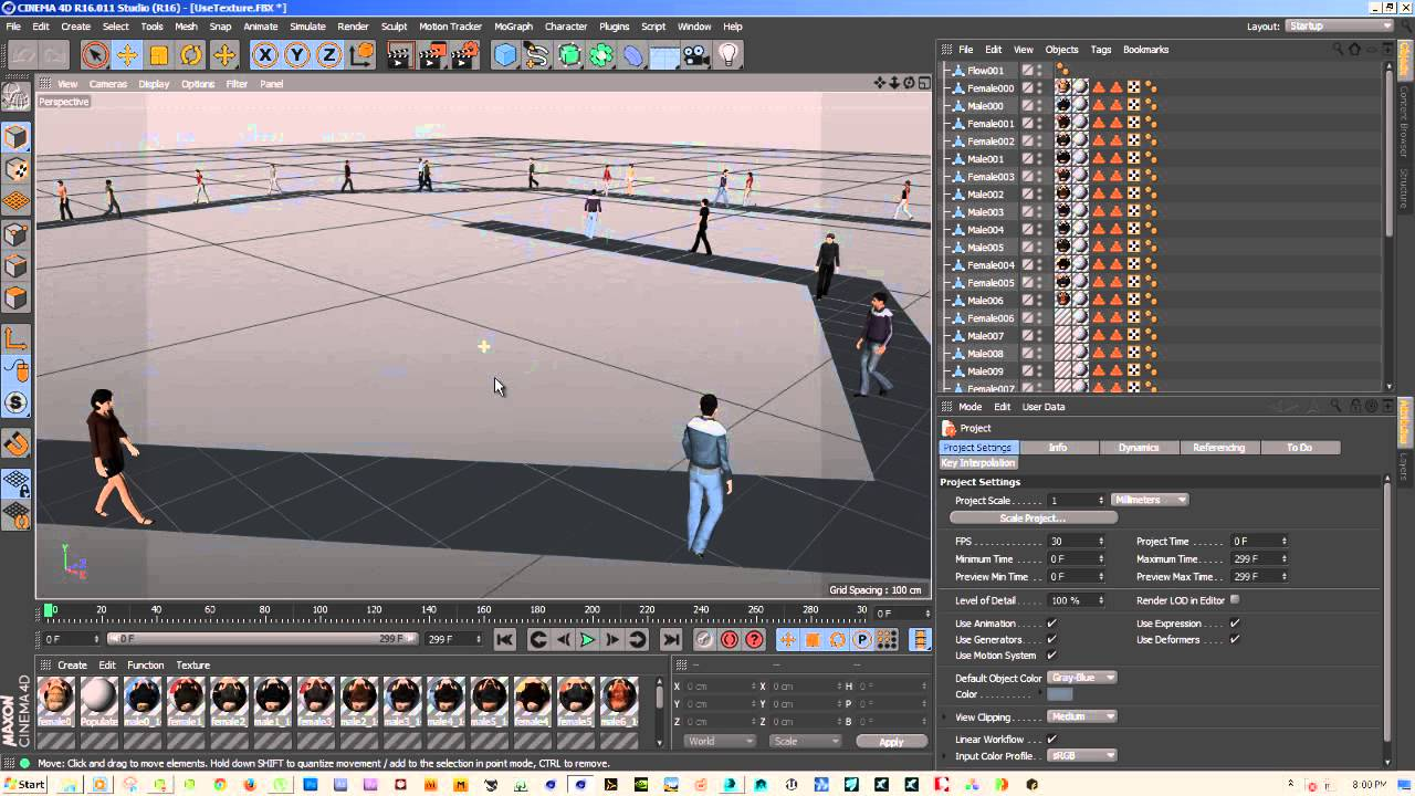 Export 3DS Max Crowd to Cinema 4D