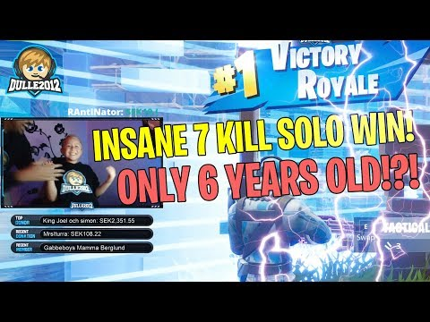 7 KILL SOLO WIN! | Fortnite Gameplay | Dulle2012 (6 year old gamer)