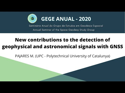 New contributions to the detection of geophysical and astronomical signals with GNSS - PAJARES (UPC)