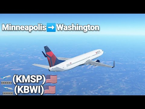 [Infinite Flight] Voando Delta | B737-9| Minneapolis to Washington