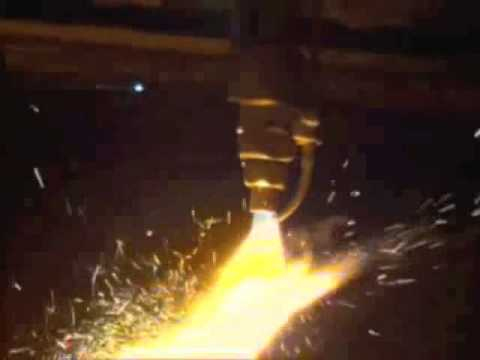 QCCMFG Cutting Large Casting with Iron Powder Torch