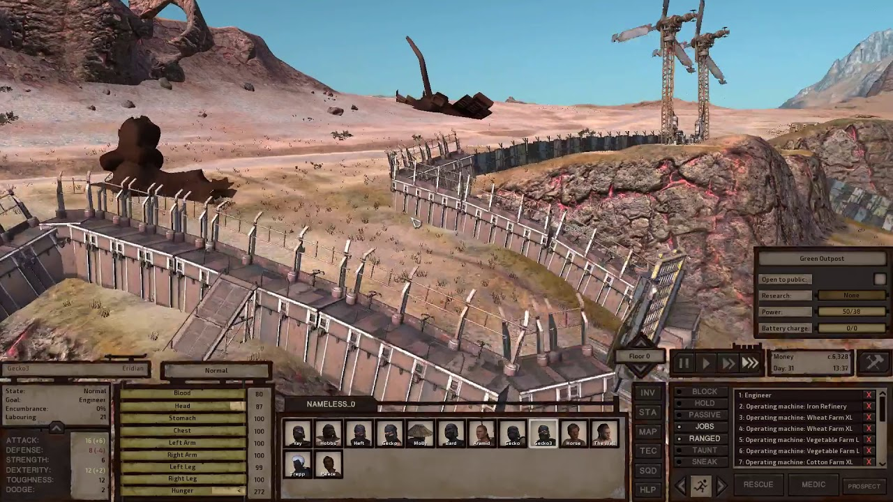Let's Play Kenshi Part 9 Weapon and Armor Crafting