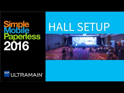 2016 Ultramain Systems UC16 Conference Hall  Setup Timelapse