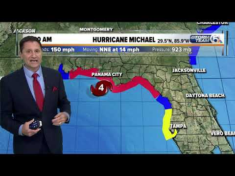11:30  a.m. Wednesday update: Hurricane Michaels winds now at 150 mph