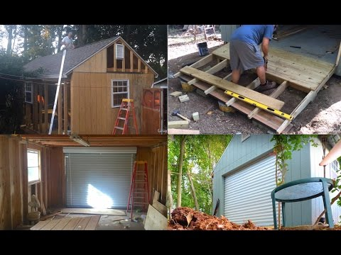 12 X 24 Mega Shed Build Tiny House Roofing Sheathing Roll Up Garage