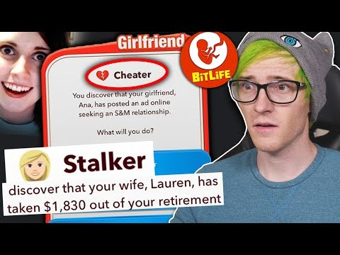 Dating A PSYCHO Girlfriend In Bitlife