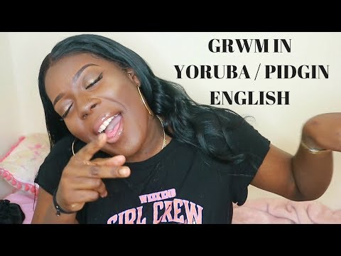 FULL MAKEUP TUTORIAL IN YORUBA / NIGERIAN PIDGIN CHALLENGE | GRWM FT KLAIYI HAIR