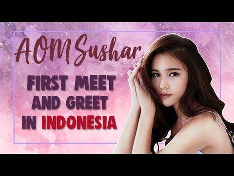Pecah Aom Sushar Nangis Saat Meet and Greet Pertama Di Indonesia