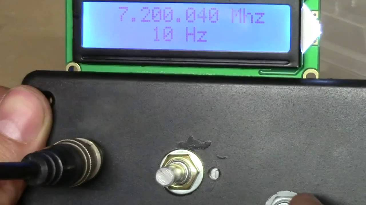 AD7C AD9850 DDS generator with I2C 16x2 LCD by aniccame