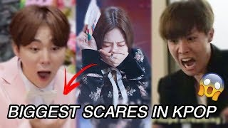 KPOP IDOLS GETTING SCARED (BTS, BLACKPINK, SEVENTEEN, GOT7...)