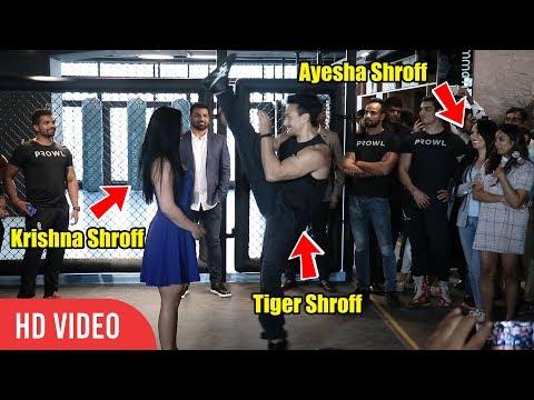 Tiger Shroff Overhead Kick Stunt on Sister Krishna Shroff | Look at Mom Ayesha Shroff Reaction