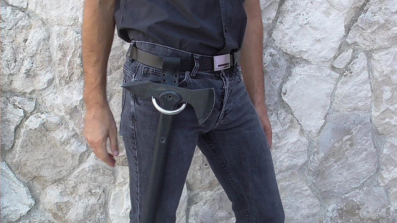 how to make a belt ring axe holster like floki s youtube