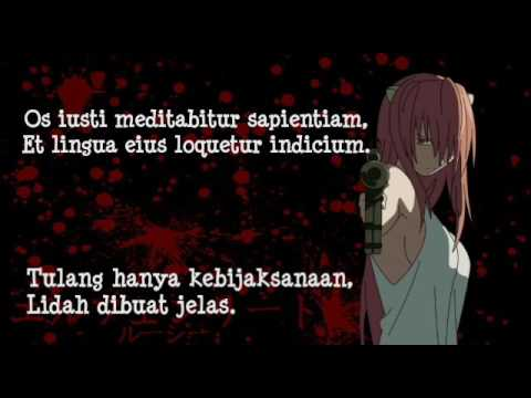 [Subtitle Indonesia] Elfen Lied - Lilium Sub Indo Lyrics + Original Lyrics