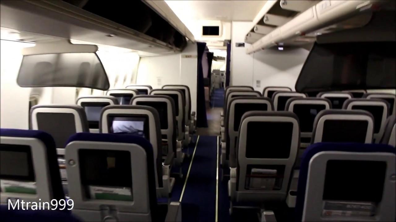 lufthansa 747 400 cabin tour v2  [ 1280 x 720 Pixel ]
