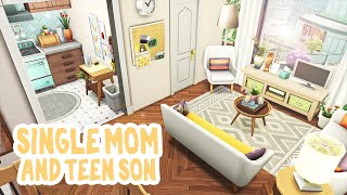 Single Mom And Teen Son 💛 || The Sims 4 Apartment Renovation: Speed Build