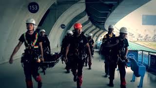 """""""橋""""是一個國際性的繩索救助邀請賽,這次共有8個國家27支隊伍參賽,山嵐..."""