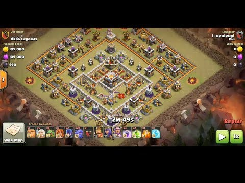 Clash Of Clan | 3 Stars Max TH11 Ring Island Bases