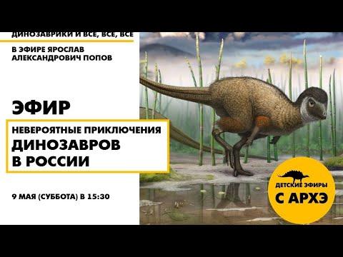 Детский эфир «Невероятные приключения динозавров в России» в рамках рубрики «Динозаврики и все, все,