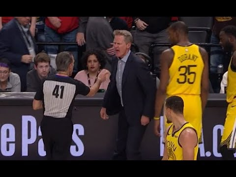 Steve Kerr Gets Ejected After Slamming Clipboard Over Controversial Call On Draymond Green