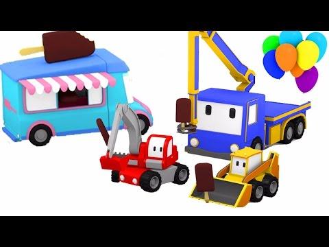Машина для мороженого - учимся вместе с малышами грузовичками в парке развлечений 🎨🚚