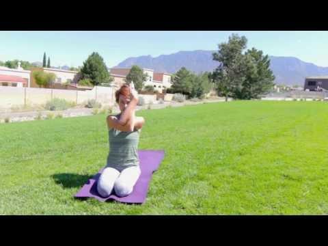 Eagle Arms and Eagle Pose Yoga Variations (Garudasana)