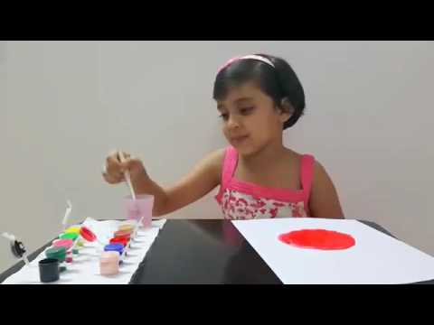 Kids Art Tutorial - How to Draw and Paint a Lady Bug - Coloring activity for Kids