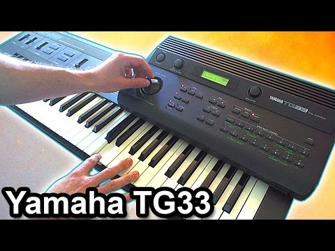 YAMAHA TG33 - Ambient Piano Music Soundscape【SYNTH DEMO】