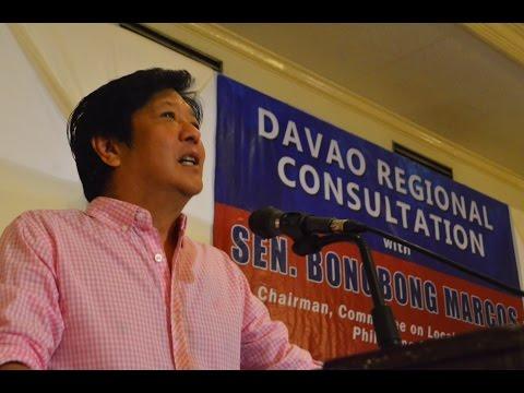 Sen. Bongbong Marcos - Davao Region Consultation