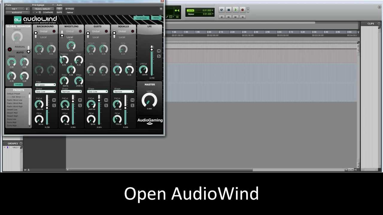 AudioWind and AudioRain (new) | AudioGaming