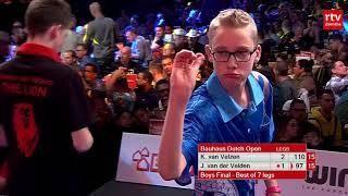 Finale Dutch Open Junioren 2018: Jurjen van der Velde - Keanu van Velzen