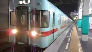 西鉄天神大牟田線普通列車(筑紫行き)・下大利駅を発車