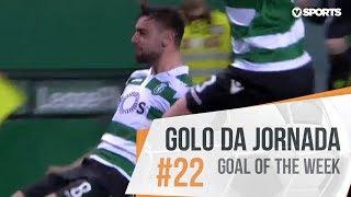 Golo da Jornada (Liga 18/19 #22): Bruno Fernandes (Sporting)
