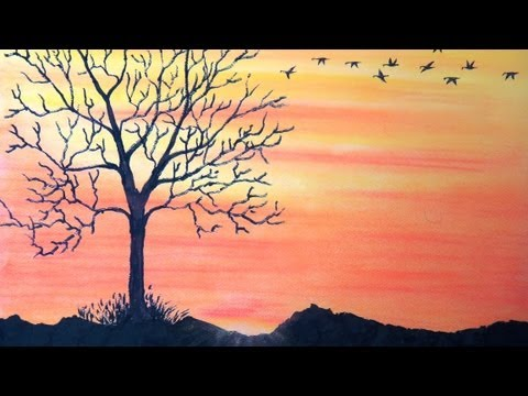 how-to-draw-sunset-with-pastel---return-to-home---with-commentary