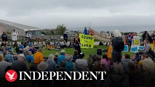 G7 summit: Extinction Rebellion protesters march through Cornwall streets