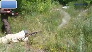 Обстрел из АК для обучения смены позиции