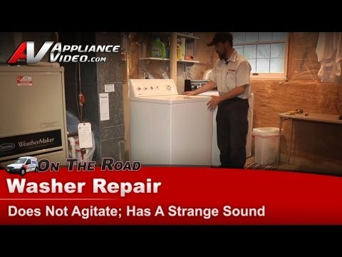 Kenmore , Whirlpool Washer Repair - Does not agitate, makes a strange ...