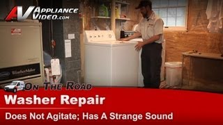 Kenmore , Whirlpool & Roper washer Repair - Does not agitate, makes a strange sound - 11024932202