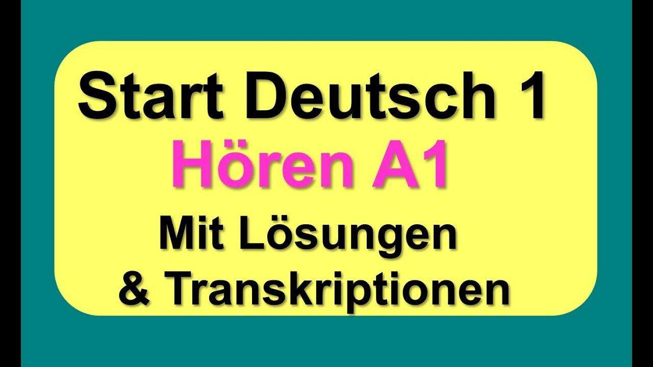Start Deutsch 1 Hören | German Listening Exam A1 - YouTube