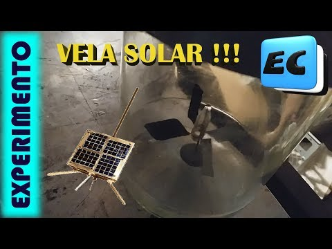 Motor solar. Vela estelar. Radiómetro EXPERIMENTO CON VACIO